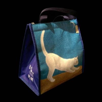 弦月下的白貓保溫袋1
