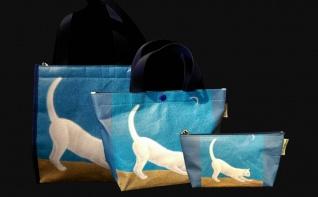 弦月下的白貓-保溫袋、托特包、化妝包1